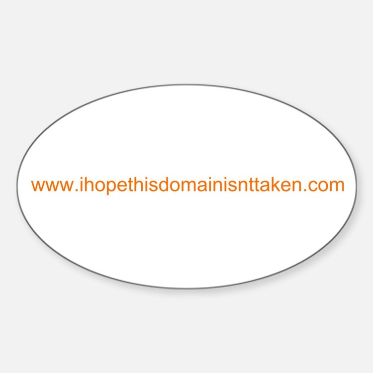 Domain Taken Oval Decal