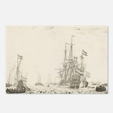 Dutch Ships Near the Coast Postcards (Package of 8