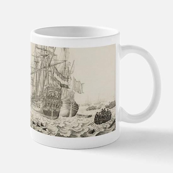 Dutch Ships Near the Coast Mugs