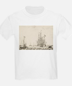 Dutch Ships Near the Coast T-Shirt
