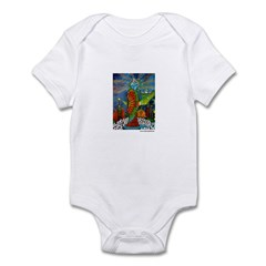 Marcy Hall's Bird Goddess Infant Bodysuit