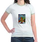 Marcy Hall's Bird Goddess Jr. Ringer T-Shirt