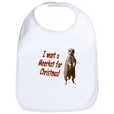 Christmas Meerkat Bib