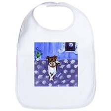 RAT TERRIER folk art design Bib