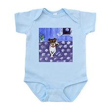 RAT TERRIER folk art design Infant Creeper