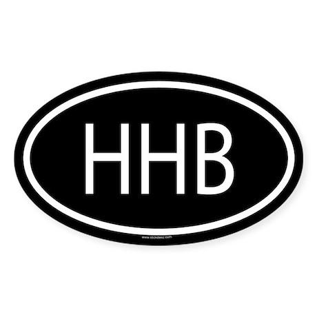 HHB Oval Sticker