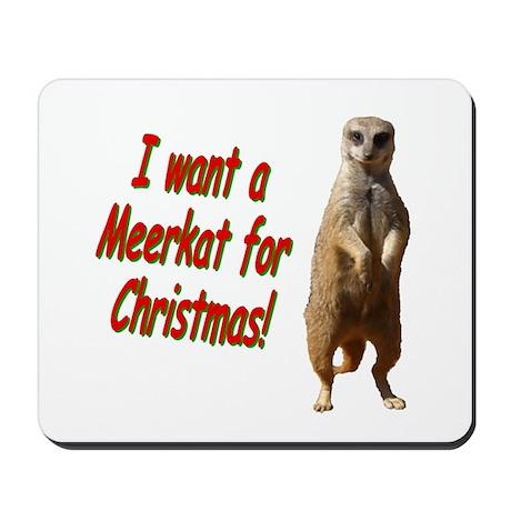 Christmas Meerkat Mousepad