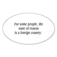 The State of Reason Oval Decal