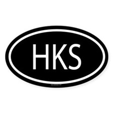 HKS Oval Decal