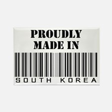 proudly made in South Korea Rectangle Magnet
