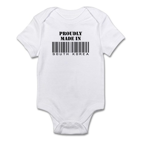 proudly made in South Korea Infant Bodysuit