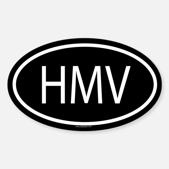 HMV Oval Decal