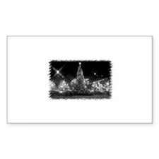 Toronto City Hall - Xmas B&W Rectangle Decal