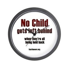 No child gets left behind Wall Clock