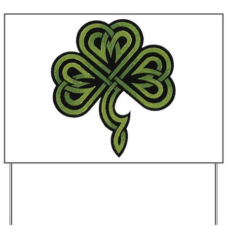 Irish Shamrock Yard Sign