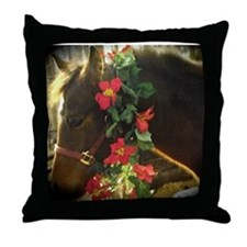 horse gift, holiday, pony lover, Throw Pillow