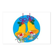 Christmas Bell Mice Postcards (Package of 8)