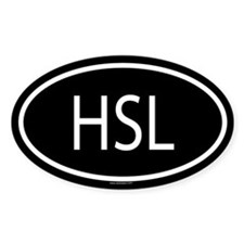 HSL Oval Decal