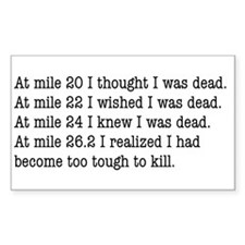 Marathon endurance Sticker. good for runners