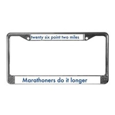 License Plate Frame- for marathon runners