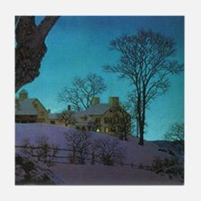 Christmas Morn, Maxfield Parrish Tile Coaster