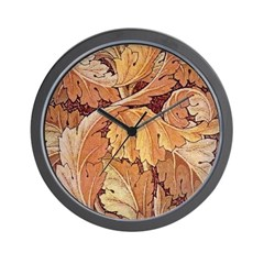 Red Acanthus Wall Clock