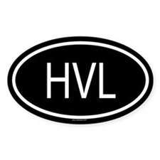 HVL Oval Decal