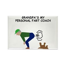 Grandpa farts funny Rectangle Magnet