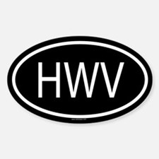 HWV Oval Decal