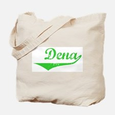 Dena Vintage (Green) Tote Bag