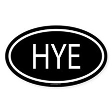 HYE Oval Decal