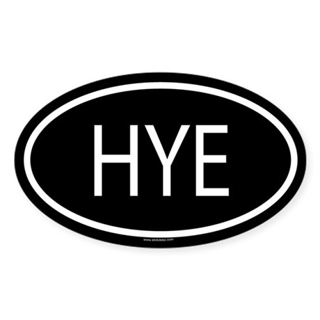 HYE Oval Sticker