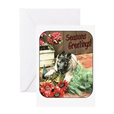 Puppy Holiday Greeting Card