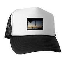 Tiki Torch at Sunset Trucker Hat