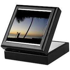 Tiki Torch at Sunset Keepsake Box
