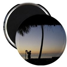 Tiki Torch at Sunset Magnet