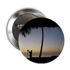 "Tiki Torch at Sunset 2.25"" Button"