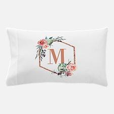 Chic Floral Wreath Monogram Pillow Case
