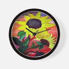 Bright Sunflowers Wall Clock