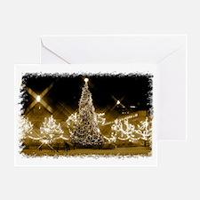 Toronto City Hall - Xmas Gold Greeting Card