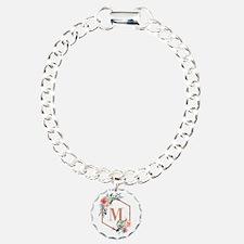 Chic Floral Wreath Monogram Bracelet