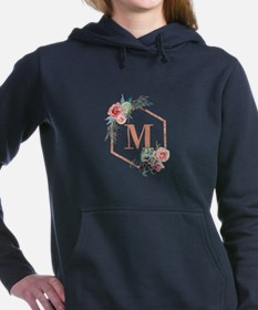 Chic Floral Wreath Monogram Sweatshirt