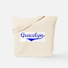 Gracelyn Vintage (Blue) Tote Bag