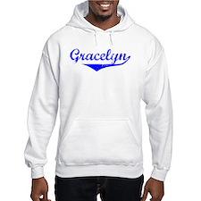 Gracelyn Vintage (Blue) Hoodie Sweatshirt