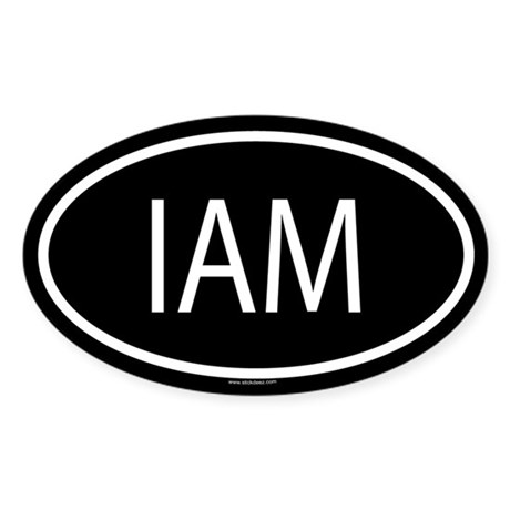 IAM Oval Sticker