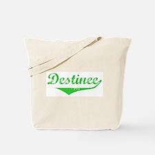 Destinee Vintage (Green) Tote Bag