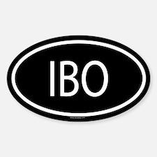 IBO Oval Decal