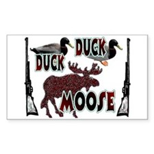 Duck, Duck, Moose hunting Rectangle Decal