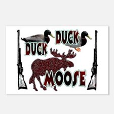 Duck, Duck, Moose hunting  Postcards (Package of 8