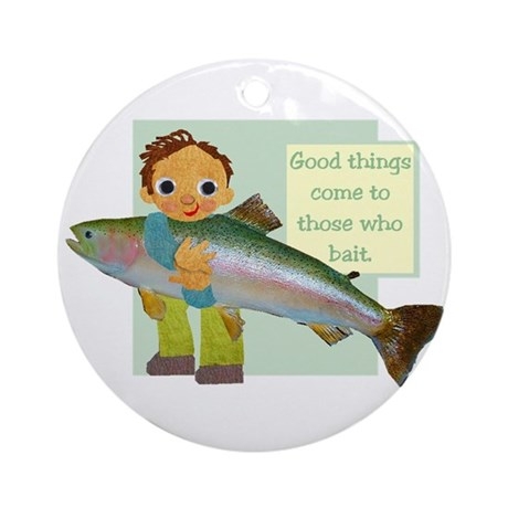 Little Fisher Ornament (Round)